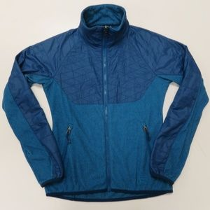 REI Womens Blue Full Zip Long Sleeve Fleece Jacket